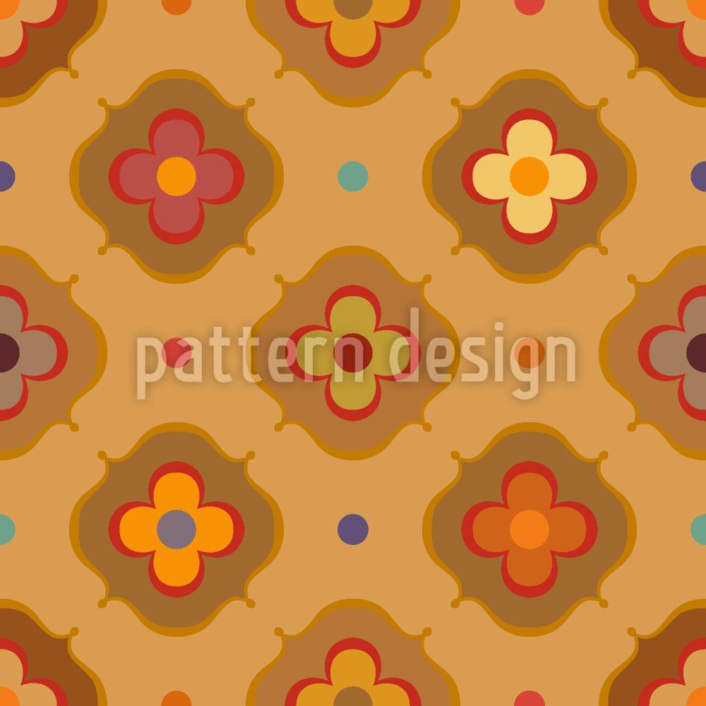 Designtapete Vintage Abstrakte Blumen
