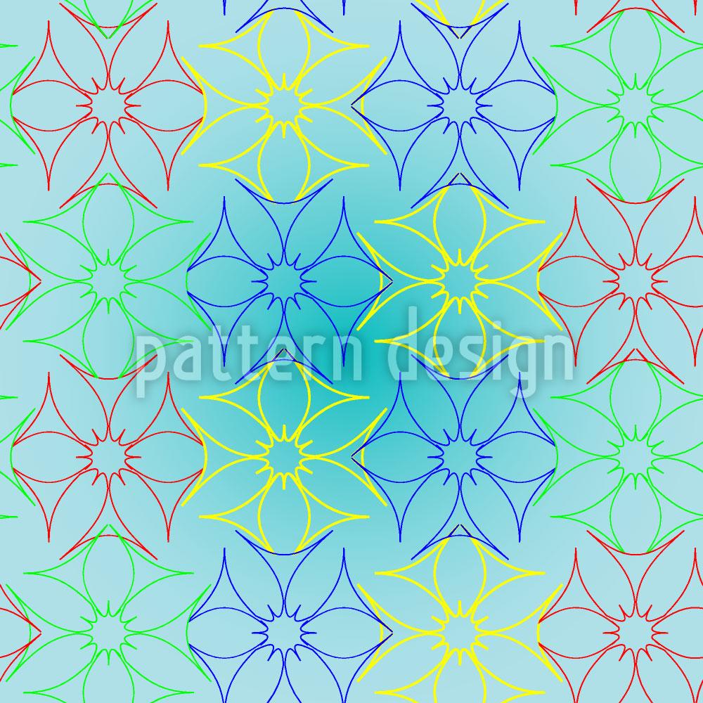Designtapete Metall Floral