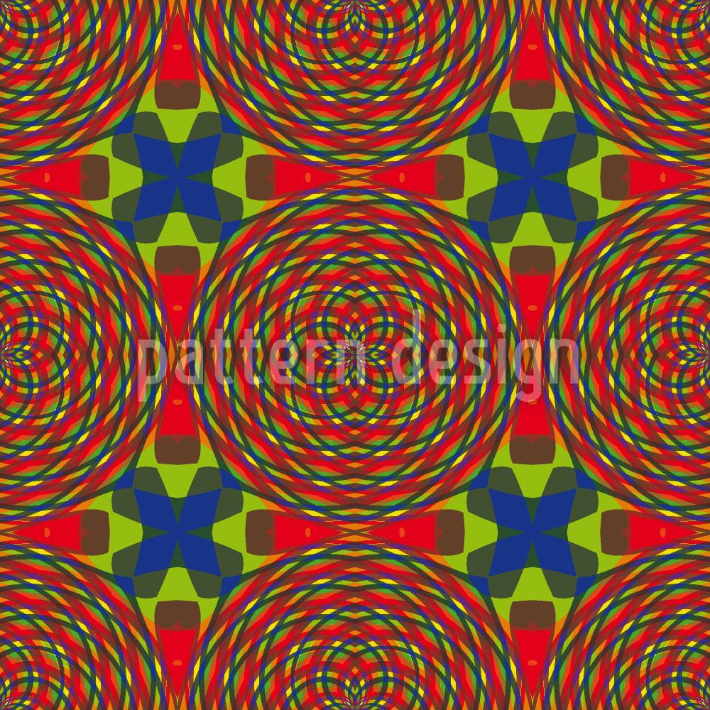 Designtapete Kaleidoskop Wirrwarr