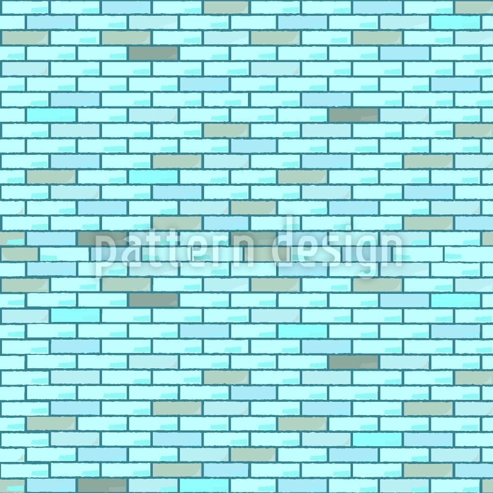 Designtapete Blaue Ziegelmauer