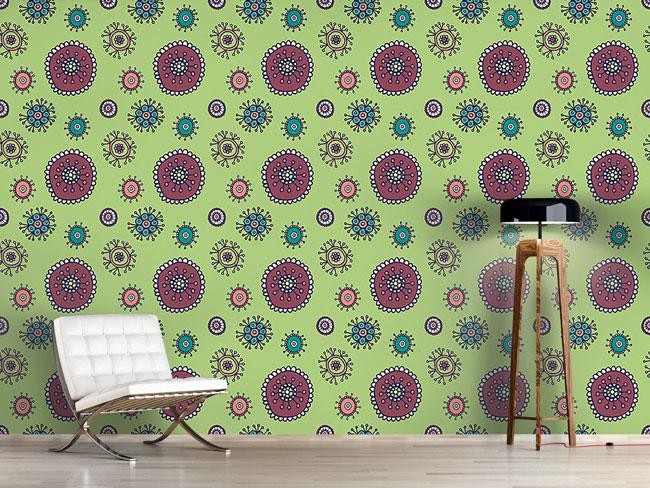 Designtapete Süsse Flora Grün