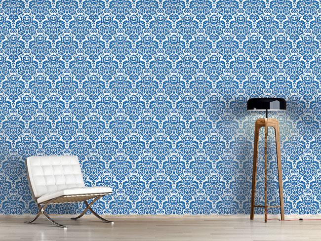 Designtapete Opulent Blau