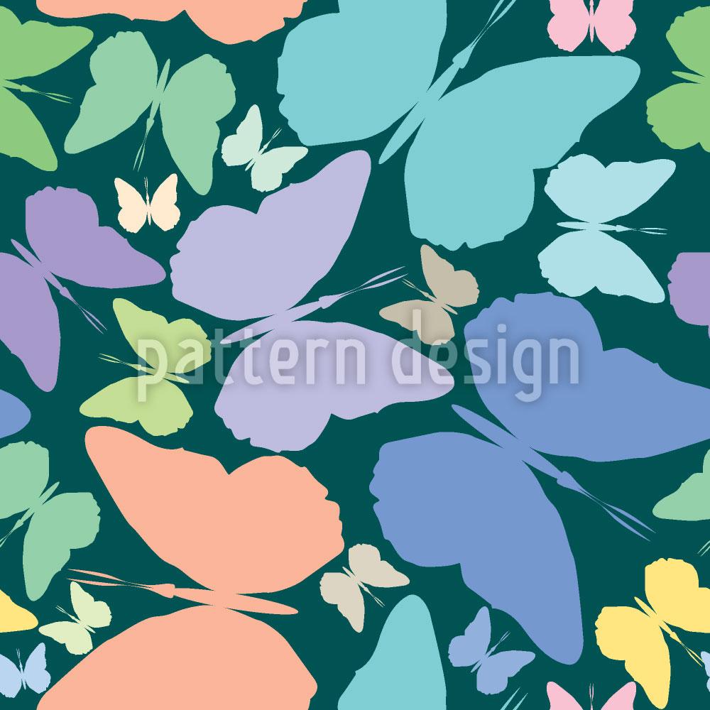 Designtapete Schmetterlinge Im Blau