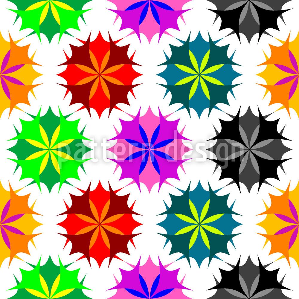 Designtapete Rosettta Color