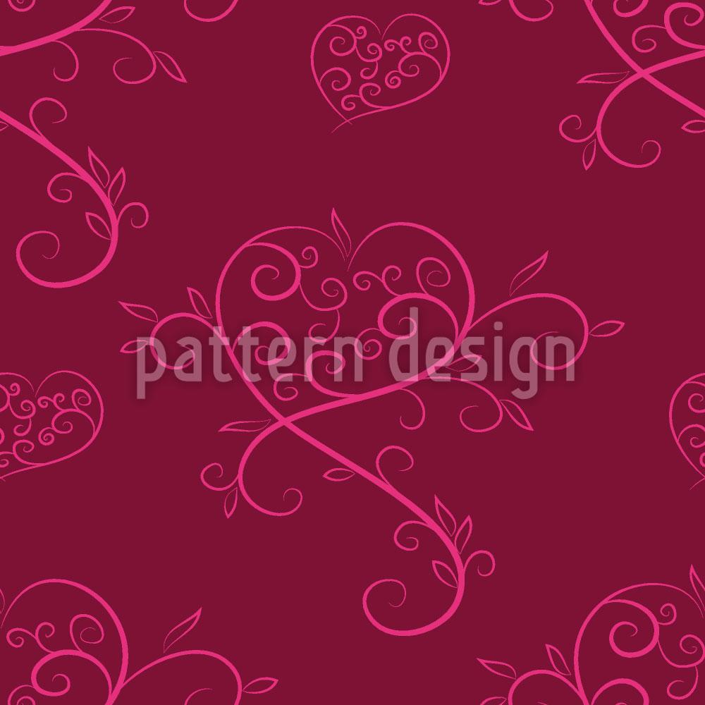 Designtapete Tatsächlich Liebe Rot
