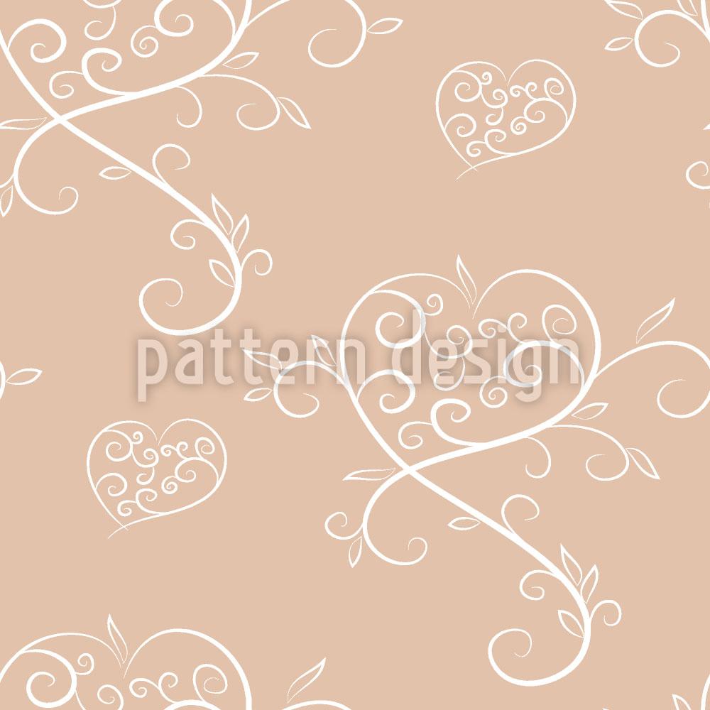 Designtapete Tatsächlich Liebe Rosa