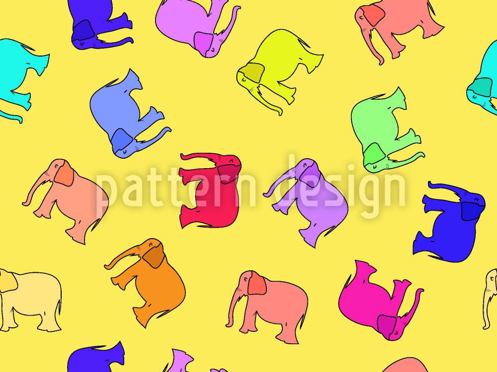Designtapete Elefanta