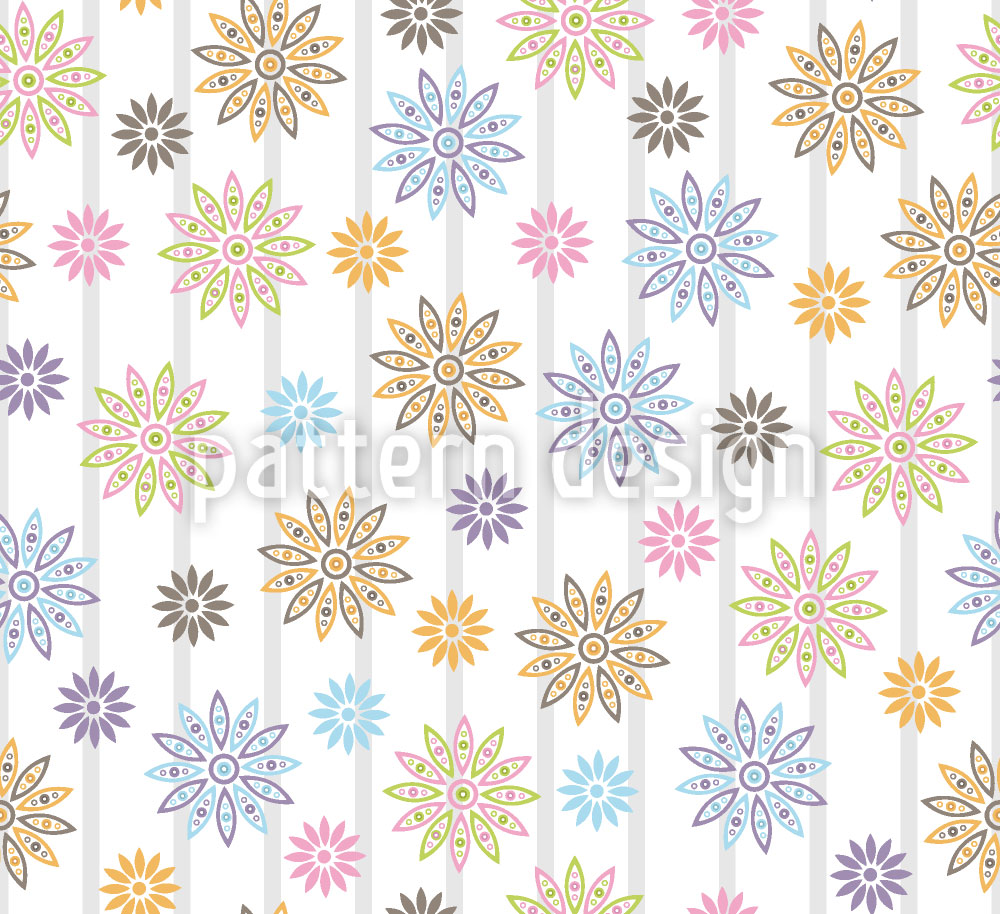 Designtapete Silvias Blumen
