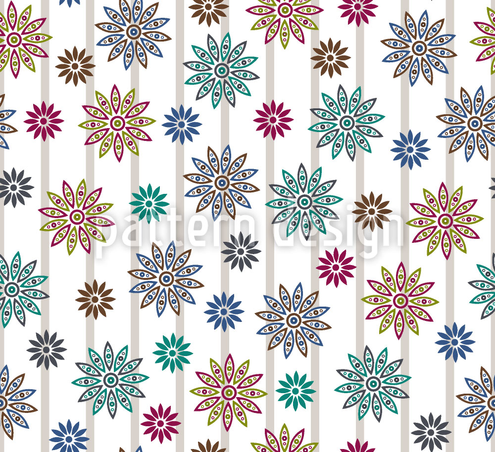 Designtapete Silvias Blumen Extrem