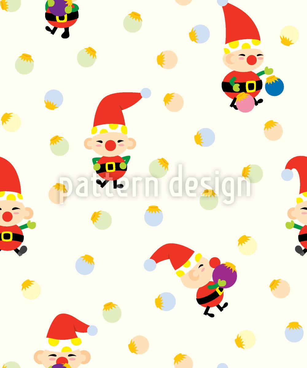 Designtapete Santas Elfen