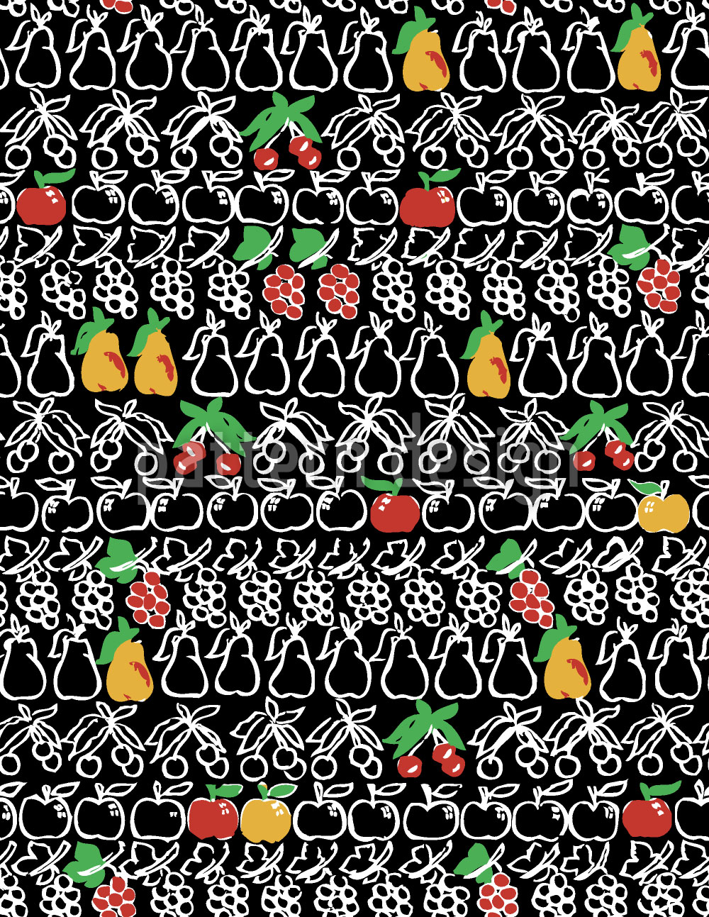 Designtapete Süsseste Früchte