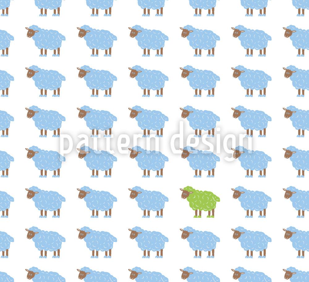 Designtapete Das Grüne Schaf
