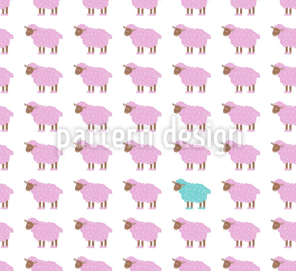 Designtapete Das Türkise Schaf