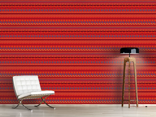 Designtapete Multi Kulti Rot