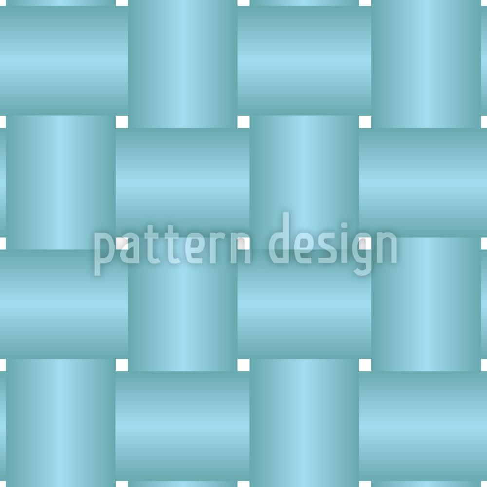 Designtapete Verflochten Blau
