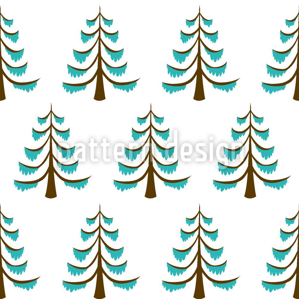 Designtapete Waldfrost