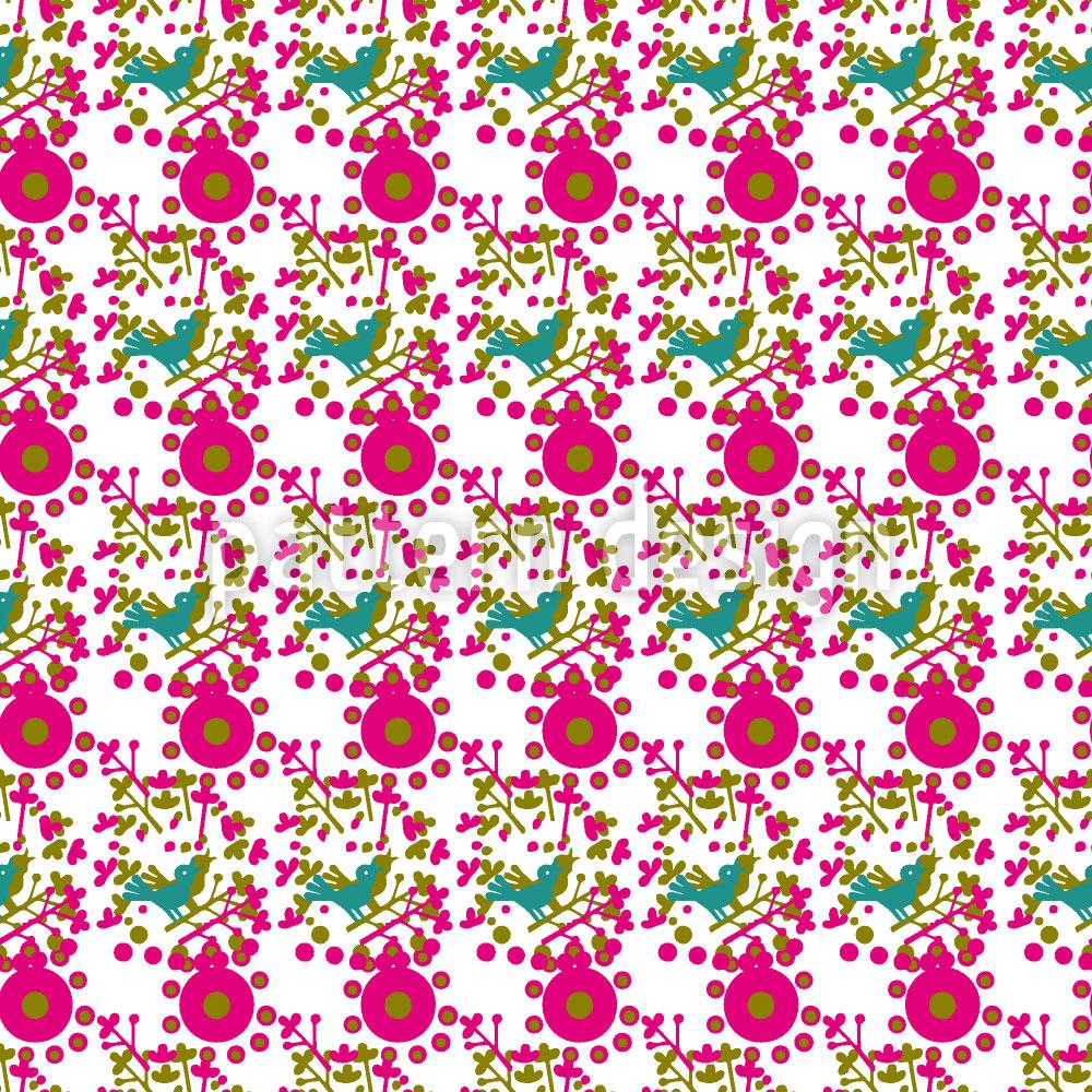 Designtapete Pink Pieps