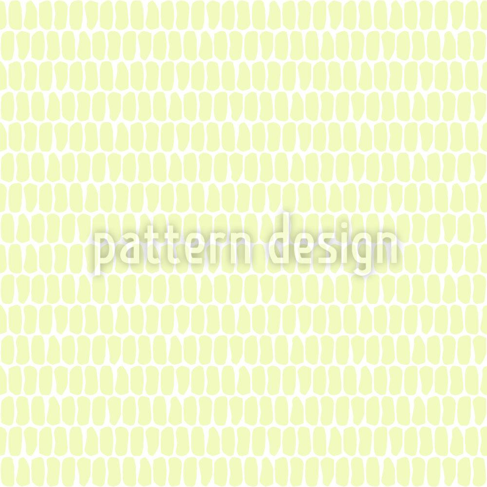 Designtapete Schuppenkleid Gelb