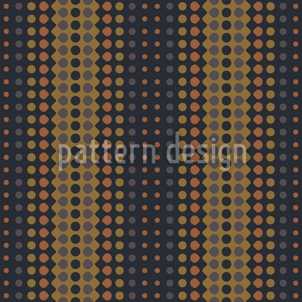 Designtapete Wave Brass
