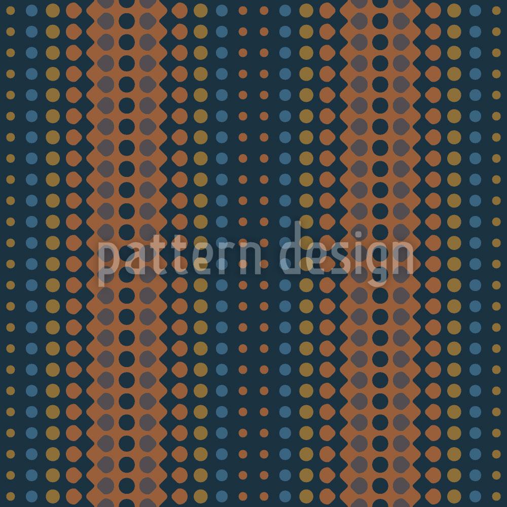 Designtapete Wave Copper