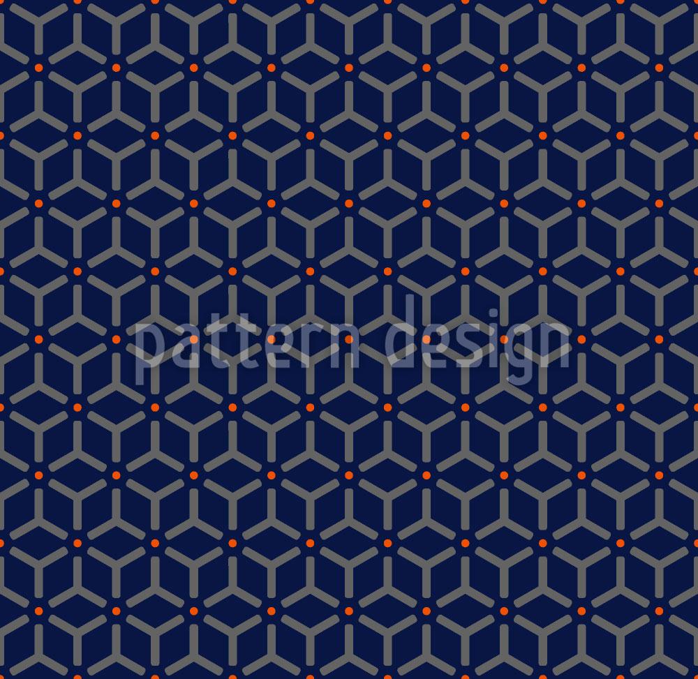 Designtapete Maroc Blau