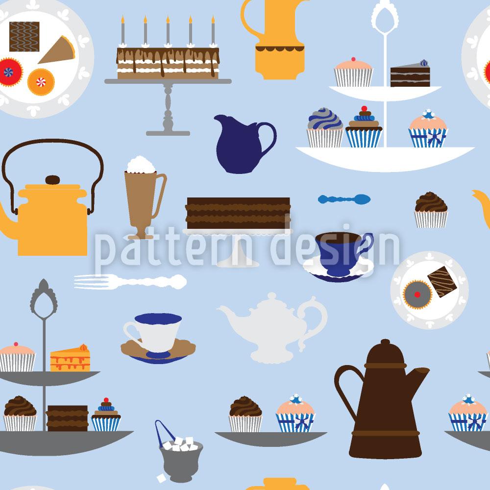 Designtapete Kaffee Mit Sahne