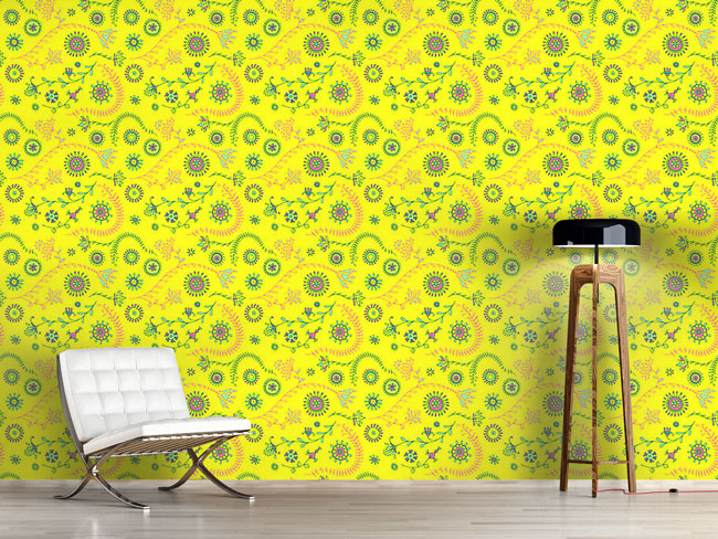 Designtapete Yellow Mellow