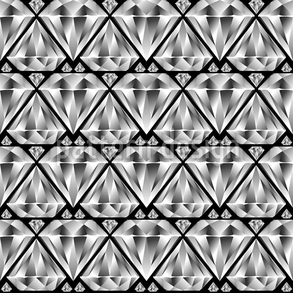 Designtapete Diamant Schwarz