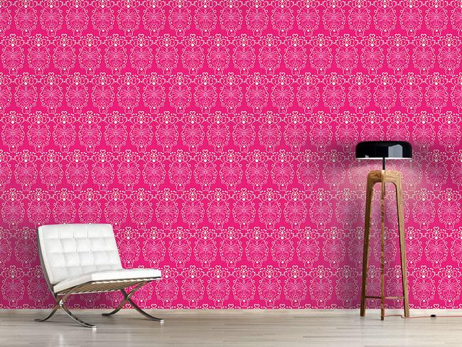 Designtapete Romanze In Pink
