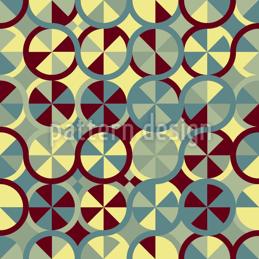 Designtapete Kreise Überall