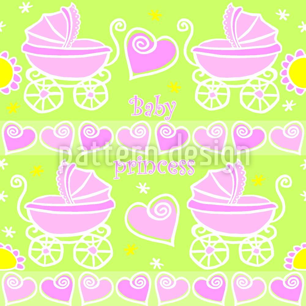 Designtapete Neon Baby Pink
