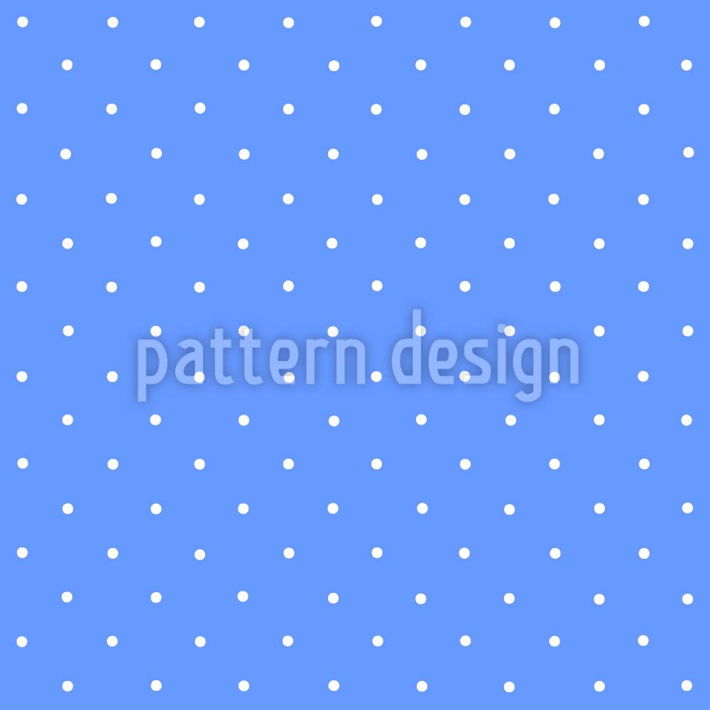 Designtapete Pünktchen Auf Blau