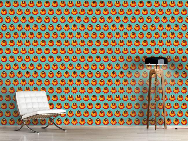 Designtapete Buddy Orange