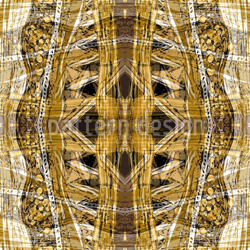 Designtapete Amber Gold