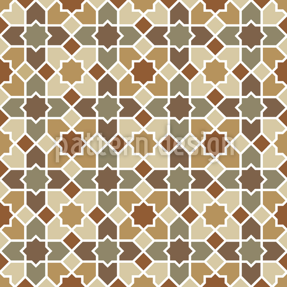 Designtapete Marokko Braun