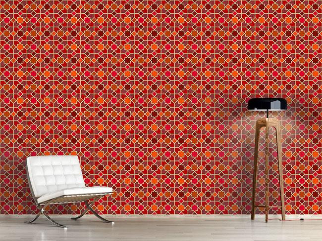 Designtapete Marokko Rot