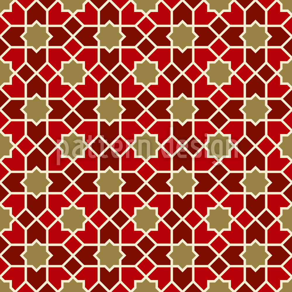 Designtapete Marokko Gold