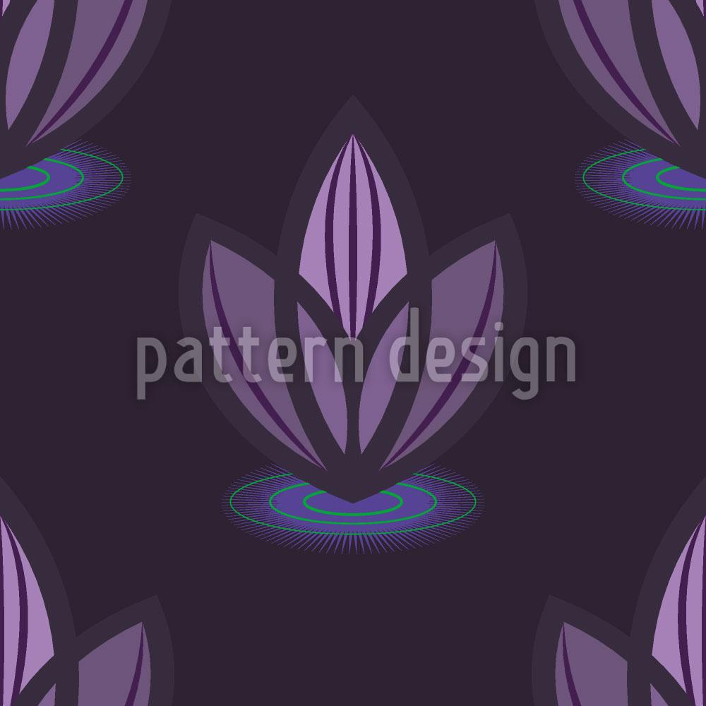 Designtapete Lotus Lila