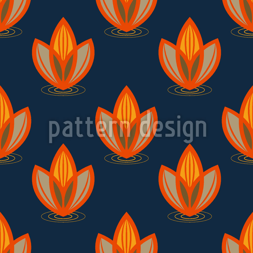 Designtapete Lotus Orange