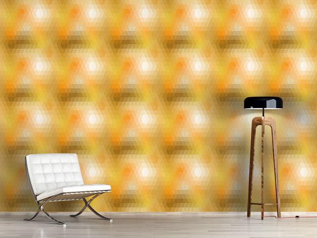 Designtapete Disco Gold
