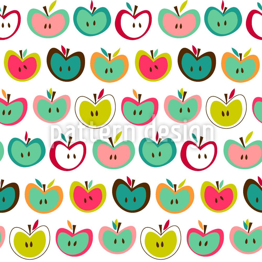 Designtapete Apfelfrische