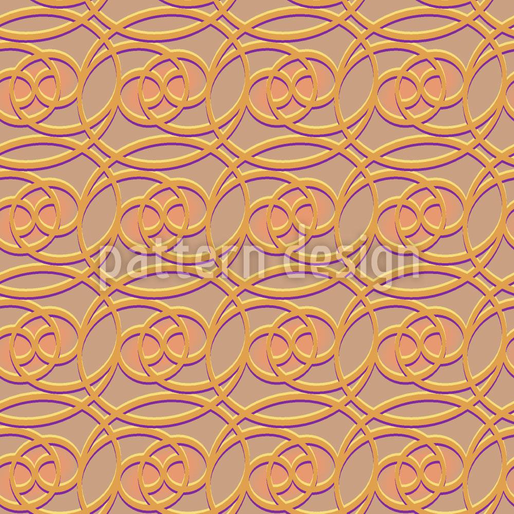 Designtapete Keltisch Gold