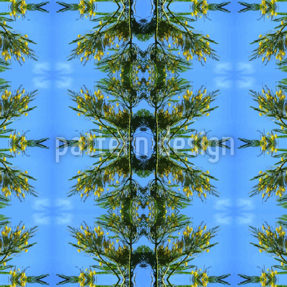 Designtapete Im Blauen Pinienwald