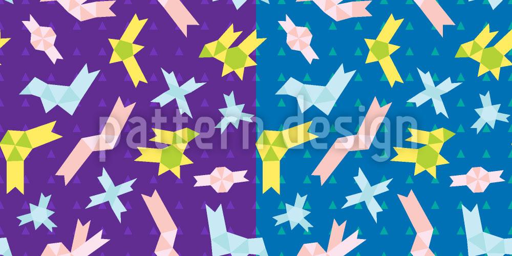 Designtapete Origami Zeit