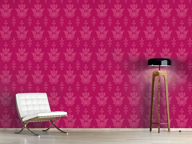 Designtapete Jaipur Pink