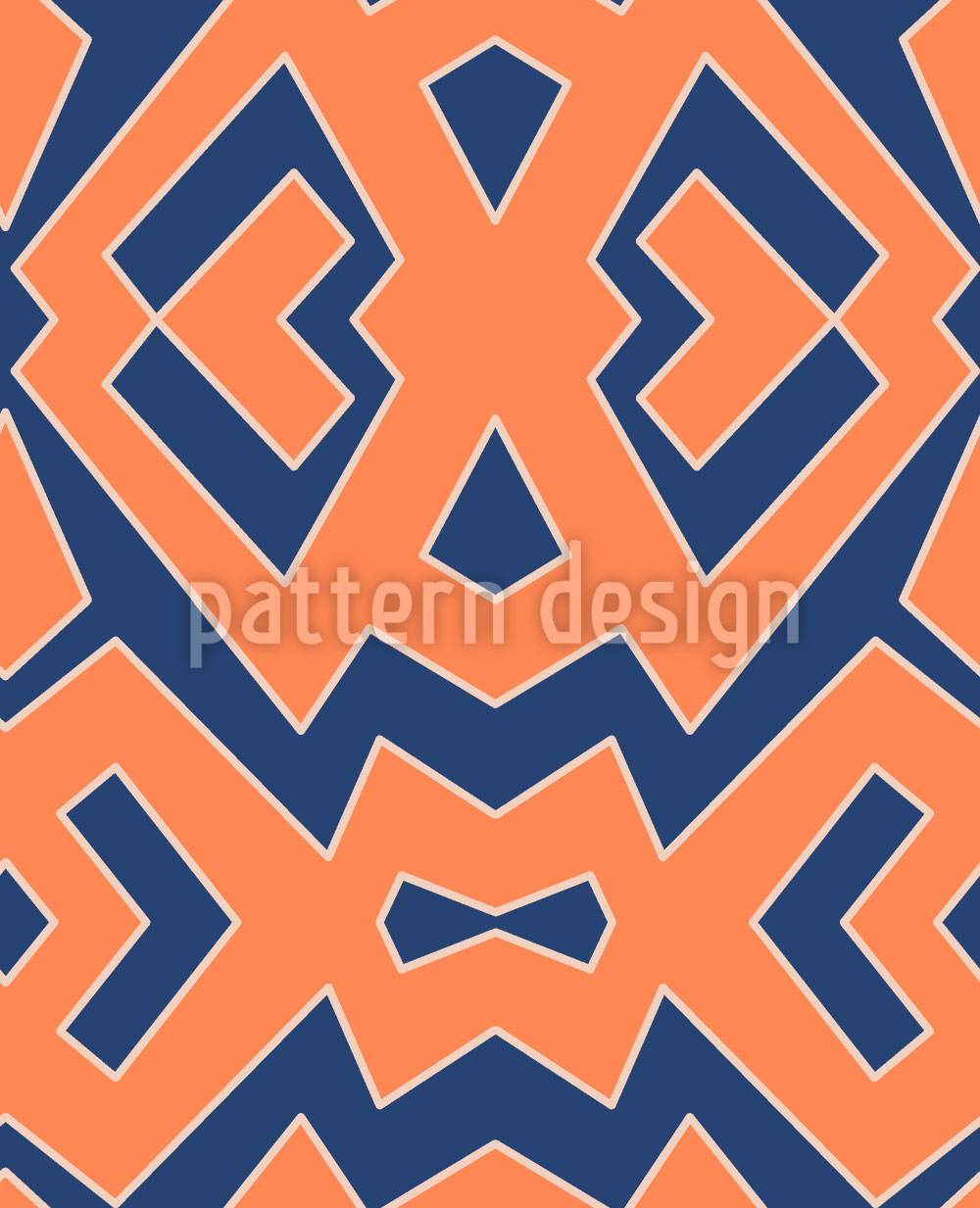 Designtapete Afroblu