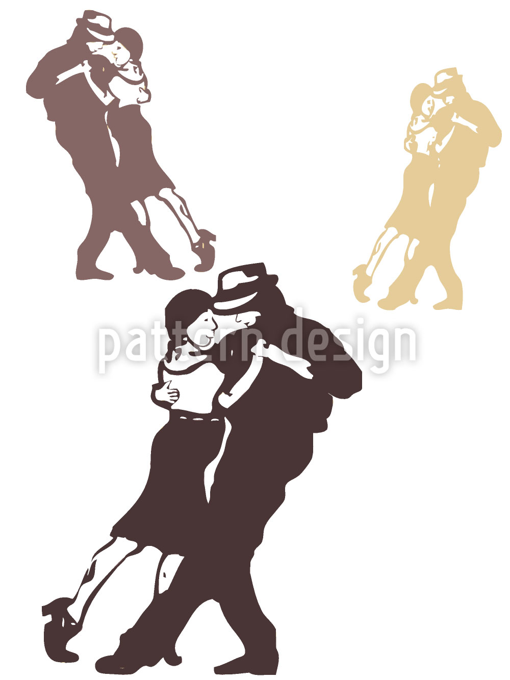 Designtapete Tango Schoko