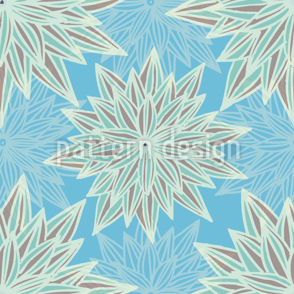 Designtapete Fantasie Blau