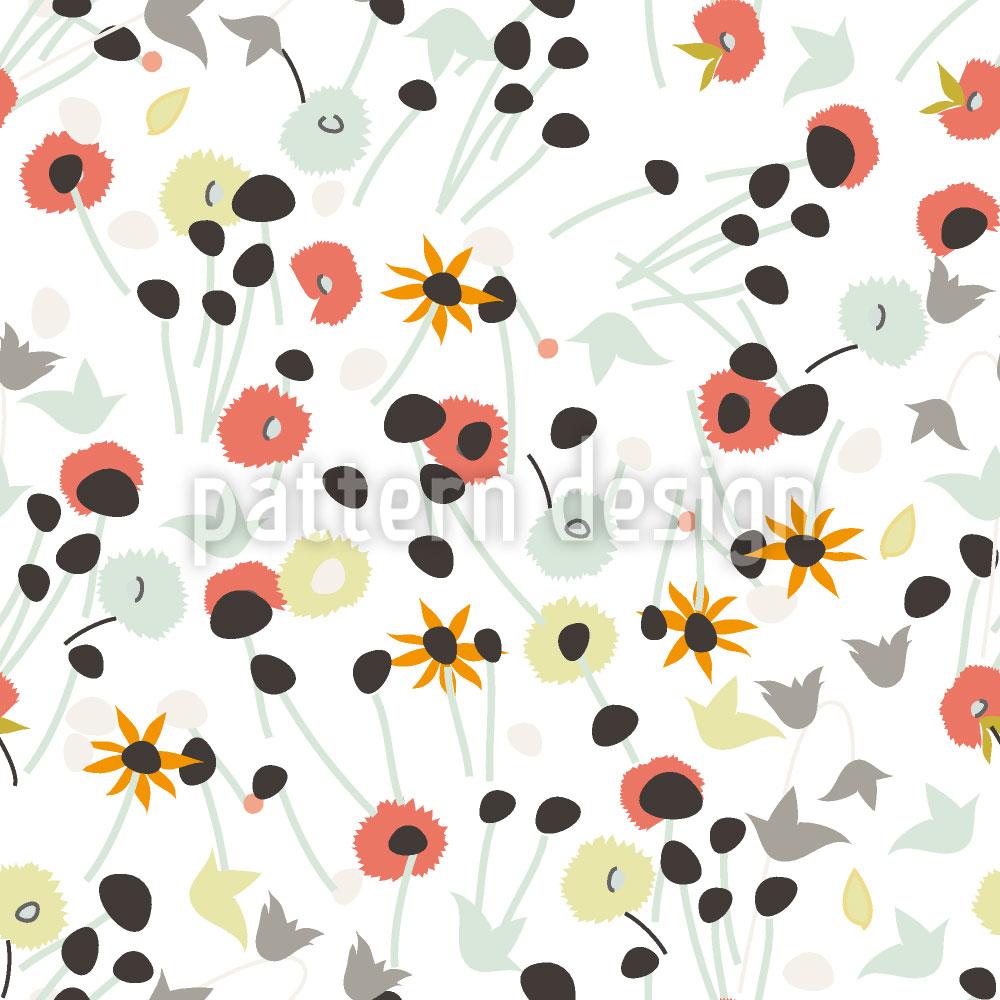 Designtapete Mille Fleur Weiss