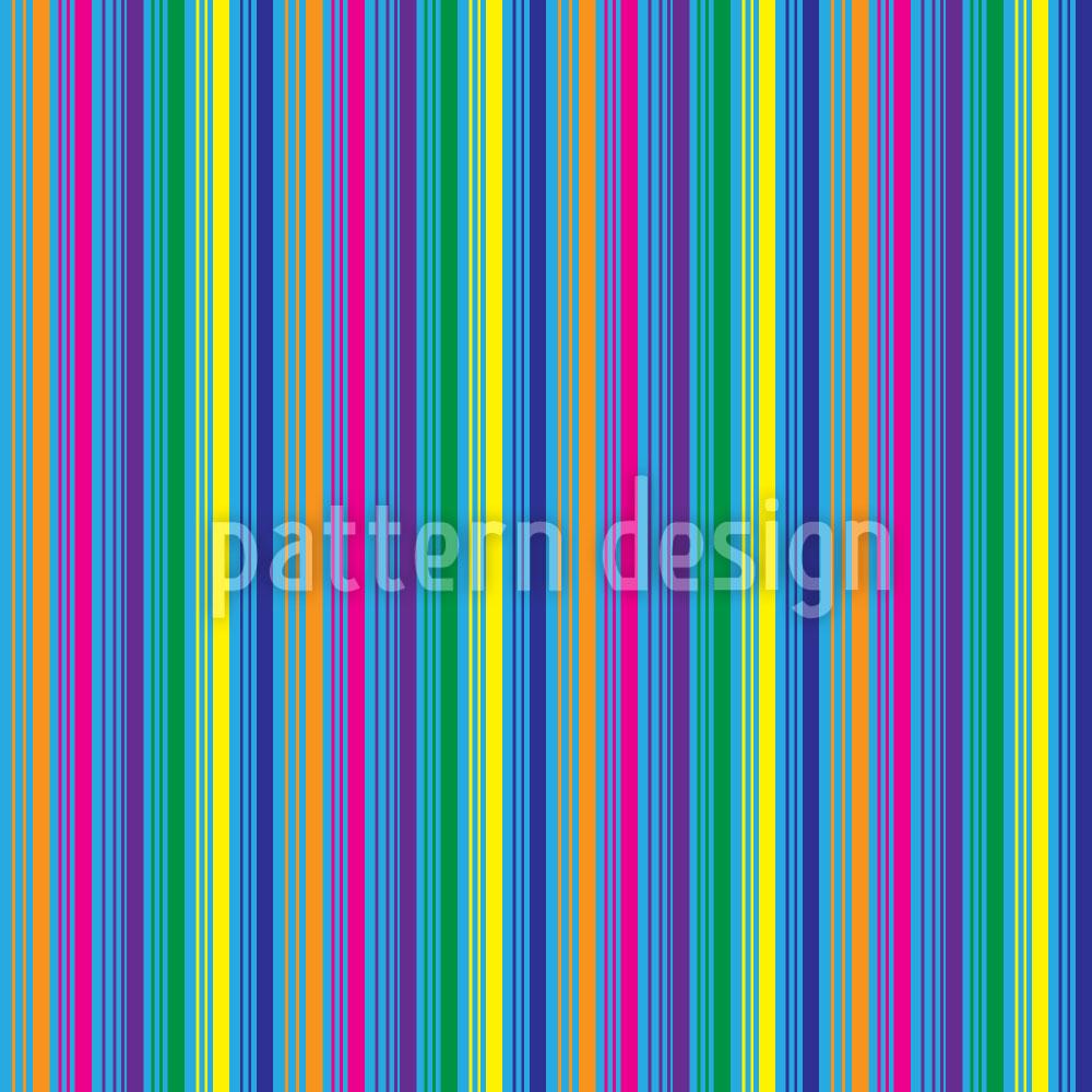 Designtapete Farbige Und Blaue Streifen